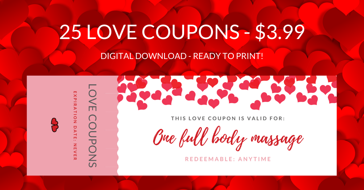 Banner - 25 Love Coupons - Lou Noire